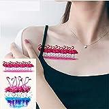 ruofengpuzi Adesivo tatuaggioSexy Flamingo Rojo Diseño Impermeable Etiqueta Engomada del Tatuaje Temporal Cuello Femenino 21X15Cm Falso Acuarela Tatuaje Maquillaje Pájaro