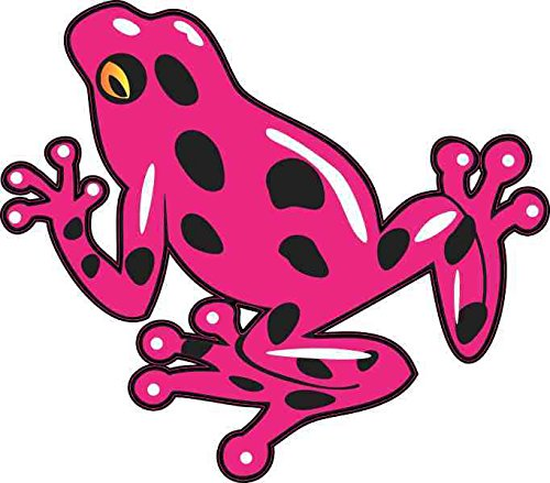 StickerTalk Poison Dart Frog Vinyl Sticker, 4.5 inches by 4 inches