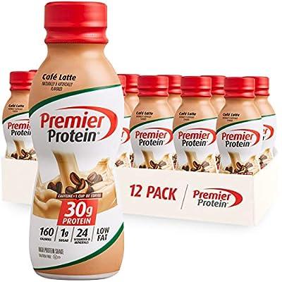 Premier Protein Shake, Café Latte, 30g Protein, 1g Sugar, 24 Vitamins & Minerals, Nutrients to Support Immune Health 11.5 fl oz, 12 Pack from Premier Nutrition