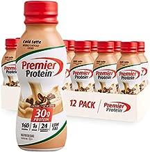 Premier Protein Shake, Café Latte, 30g Protein, 1g Sugar, 24 Vitamins & Minerals, Nutrients to Support Immune Health 11.5 fl oz, 12 Pack