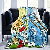 Die Schlümpfe-Überwürfe für Sofa & Bett, gemütliche Tagesdecke, Fleece-Teppich, Sofa-Decken, umarmt & kuschelig.