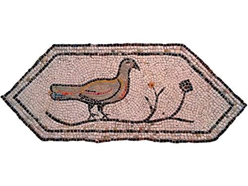 Kit de mosaico romano Tórtola. 2700 teselas cúbicas de 5mm. + herramientas. Tamaño terminado: 87x36 cm.