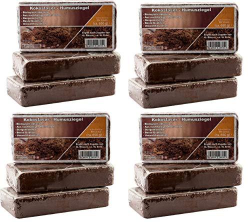 Kokoseinstreu Bodengrund, Terrarienerde für Reptilien - einfach partitionierbare Kokoserde - XXL Humusziegel als Terrarium Einstreu Cocoground Kokosgrund Kokoshumus Kokosziegel Kokosfaser Briketts für Terrarien, Bodengrund für Tropenterrarien (108L)