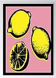 Pop Art Pink Zitrone Kunstdruck Poster -ungerahmt- Bild DIN