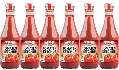 WERDER 6 x Tomaten Ketchup 750 ml