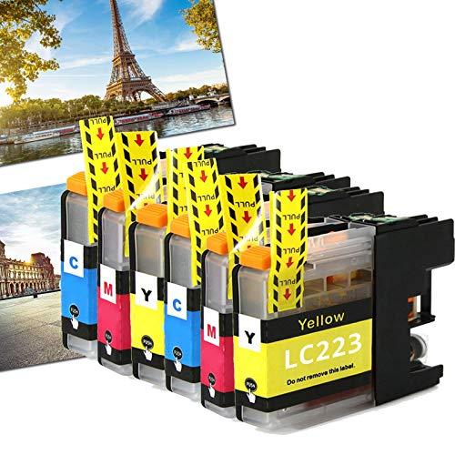 OGOUGUAN 6 LC223 - Cartuchos de tinta compatibles con Brother DCP-J562DW MFC-J4120DW J5320DW J880DW J5620DW J5625DW J680DW J4625DW J5720DW J4420DW J4620DW J480DW