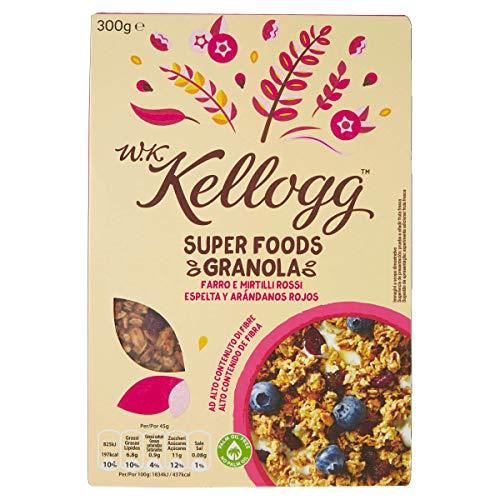 Kellogg's Wkk Super Foods Granola Farro e Mirtilli Rossi - 0.300 kg