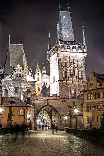 Kalender Prag bei Nacht