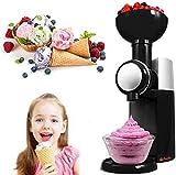 WZLJW Ice Cream Maker, with Built in Freezer, 800ml Frozen Yogurt Sorbet Make Automatic Machine, Icecream Makers Machine for Home DIY ggsm (Color : Black)