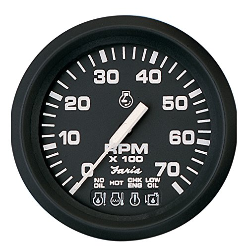 Faria 32850 Euro Tachometer Gauge 7000 RPM with System Check Indicator-4