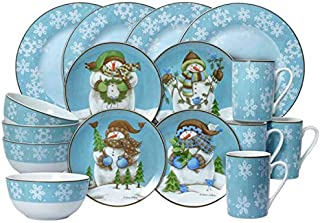 Pfaltzgraff Evergreen Ernie 16 Piece Dinnerware Set, Service for 4