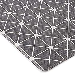 Geometric anti-fatigue mat for the kitchen