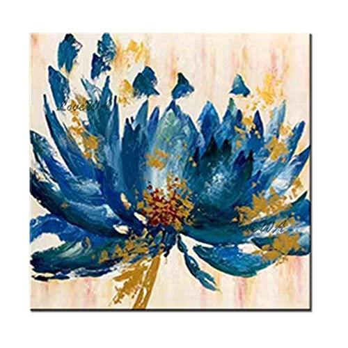 Cuadro Decoracion Lienzo Lámina dorada Diseños abstractos de mariposas y flores Arte de la lona de la pared Pintura al óleo pintada a mano pura Obra de arte para la decoración de la sala de estar