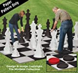 Winfield Collection Woodworking Plan for a Large Yard Chess & Checkers