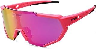 b82059bef8 X-TIGER Gafas Ciclismo polarizadas con 3 Lentes Intercambiables UV 400 Gafas  Deportivas, Corriendo