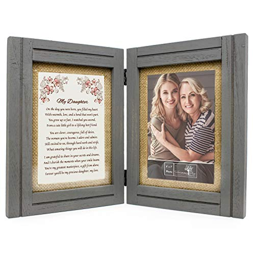 Daughter Gifts from Mom or Dad - 5x7 Picture Frame and 'My Daughter' Poem - Gift for Birthday, Valentines Day, Wedding, Graduation, Christmas, College, Mothers Day, Long Distance - Adult/Teen