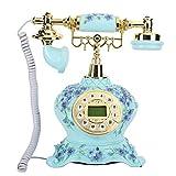 Feg Teléfono Antiguo Búsqueda rápida de números/Marcar de Nuevo Vista Completa Luz de Fondo ID de Llamada Inicio Teléfono Fijo para Oficina