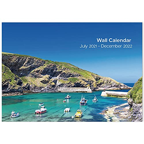 2021-2022 Wall Calendar - 18-Month to View Calendar with Coastal Scenes,...