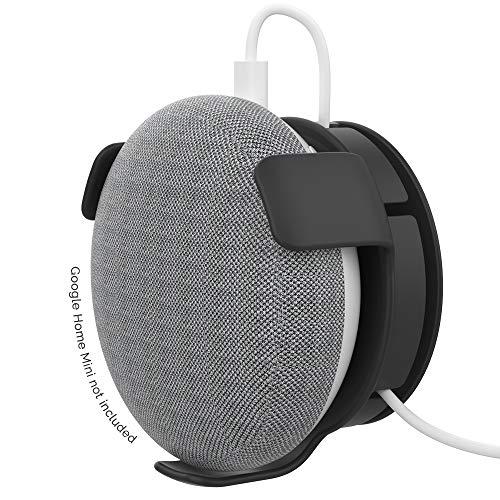 AhaStyle - Supporto da parete in ABS per Google Home Mini Voice Assistants, gestione cavi integrata