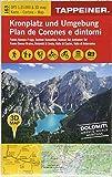 3D Wanderkarte Kronplatz und Umgebung: Carta escursionistica 3D - Plan de Corones e dintorni (Kombinierte Sommer-Wanderkarten Südtirol / Topografische Karte + 3D-Panoramakarte)