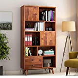 Product Dimension(In Inch): Length: 34 X Width: 15 X Height: 72 Primary Material: Sheesham Wood   Secondary Material: Solid MDF/Plywood Depending On Availability   Product Name: Wooden Book Shelf For Living Room & Office. Give Your Home A Luxurious L...