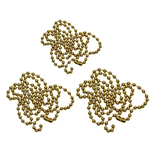Colcolo Collar de Cadena de Cuentas de Bola de Latón 3X con Conectores a Juego para Encontrar Joyas de Bricolaje
