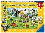 Ravensburger Kinderpuzzle - 08861 Der Maulwurf im Garten - Puzzle für Kinder ab 4 Jahren, mit 2x24 Teilen