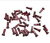 PILLAR 14 mm Set de 36 aluminio, bicicleta, bicicleta de carretera, bicicleta radios pezones, rojo, 14 mm