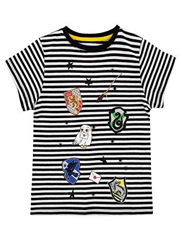 HARRY POTTER Camiseta para Niñas Los Escudos de Las Casas de Hogwarts Multicolor 12-13 años