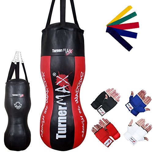 TurnerMAX Heavy Duty Body Punch Bag Angled KickBoxing Training...