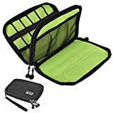 Senkoovi Electronic Organizer Travel Cable Organizer Electronics Accessories Cases for 7.9'' iPad Mini, Cables, Chargers, Travel USB Chargers, Cellphones, SD Card Black (Black)