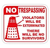 Chili Print Signs of Danger! - Sticker Graphic Bumper Window Sicker Decal - Doctor Who Dr Who Sticker