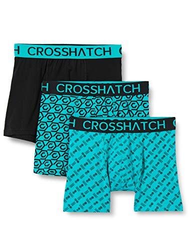 CrossHatch Herren Boxershorts, Gleason-Schwarz Grün, XXL