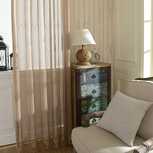 Met Love Polyester Coton Warp Screens Fenêtre Screening Salon Chambre Étude Balcon Dedicated Bay Window 2 Panneaux (Taille : L:3.0*H:2.7m)