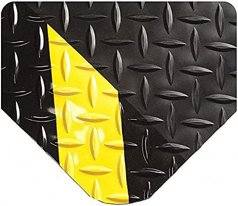 Wearwell Inc Black Yellow UltraSoft Diamond-Plate Max 81% OFF x W Challenge the lowest price of Japan Mat 3 ft.