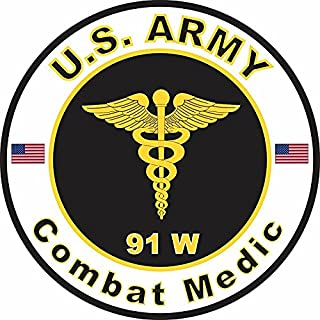 MAGNET US Army MOS 91W Combat Medic 5.5 Inch Magnetic Sticker Decal