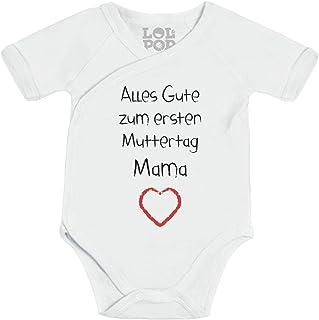 Shirtgeil Alles Gute zum ersten Muttertag Mama Herz - Baby Geschenk für Mutter Wickelbody