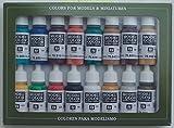 Vallejo-3070142 70142 VALLEJO Model Color Set 16 CO, Surtido (3070142)