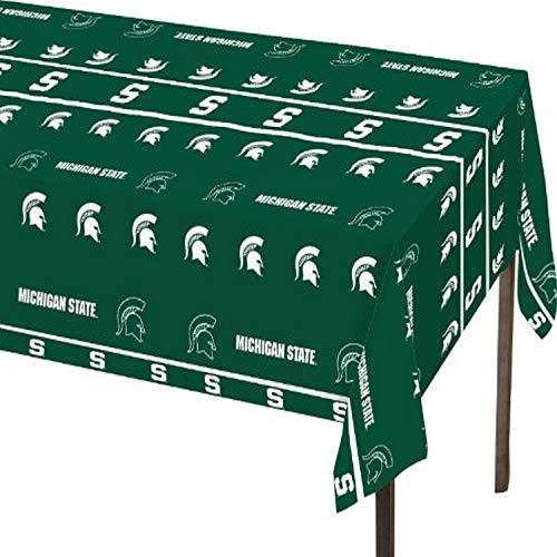 Creative Converting Michigan State Spartans Plastic Table Cover, 54'x108' -