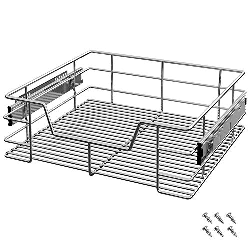 Deuba Cajón telescópico bandeja de metal extraíble 60cm organizador interior almacenaje para cocina baño armario taller