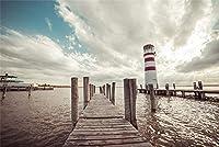 ジグソーパズル子供のための大人のための1000個ビーチ木製橋灯台パズル教育ゲーム家の装飾パズル(50x75cmカスタマイズ可能な写真)