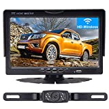 LeeKooLuu HD Wireless Backup Camera System for Cars,Trucks,Minivans,SUVs with 7' LCD Monitor Rear/Front View System IP68 Waterproof Night Vision Guide Lines ON/Off for Continuous/Reversing Use