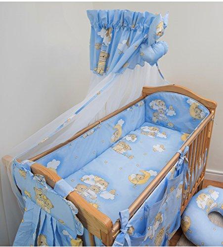 8 pièces Parure de lit bébé avec bumper polyvalent pour s'adapter au lit 140 x 70 cm Alèse Pattern 4