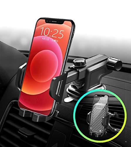 【RoBeeS】 (日本企画) 車載ホルダー スマホホルダー 片手操作 車載スタンド 2in1 粘着ゲル吸盤&エアコン吹き出し口式両用 スマホスタンド 車用品 360度回転可能 伸縮アーム 携帯ホルダー 手帳型ケース対応 取り付け簡単 4-7インチ全機種対応 iPhone/Samsung/xeperia/LG/Huawei など