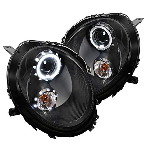 Spec-D Tuning 2LHP-MINI06JM-TM Black Projector Headlight (Housing)