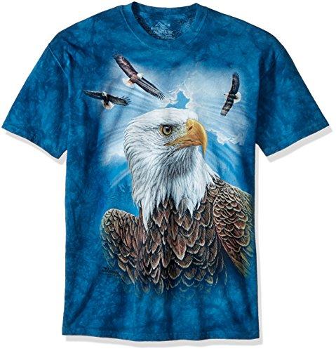 The Mountain Camiseta para hombre con diseño de águila - azul - Large
