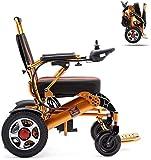 Hammer Silla de ruedas eléctrica, sillas de ruedas ligero plegable de alimentación for aire libre Hogar, de aluminio plegable Silla de ruedas eléctrica Todo Terreno Energía Dual Vespa Presidente Poten
