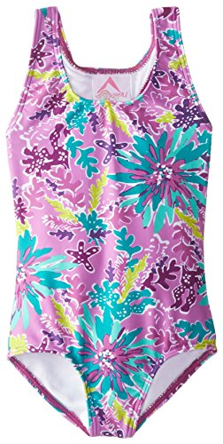 Kanu Surf Girls' Beach Sport 1-Piece Swimsuit, Ariel Purple, 24 Months