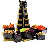 Gourmet Tower Gift Basket Nut & Dry Fruit Tray (12 Mix) - Variety Care Package, Birthday Party Food, Holiday Arrangement Platter, Healthy Snack Box for Families, Women, Men, Adults - Prime Delivery