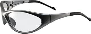 Global Vision Reflex Padded Motorcycle Safety Sunglasses Grey Frame Clear Lens ANSI Z87.1